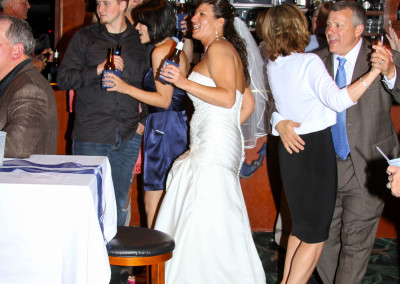 Bride dancing with her guests..