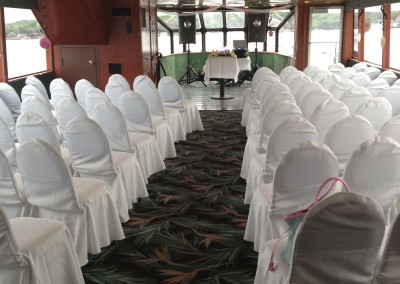 Chapel seating wedding..